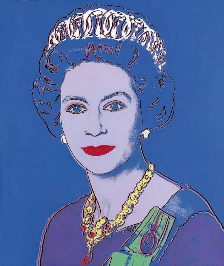 Retrato Warhol reina