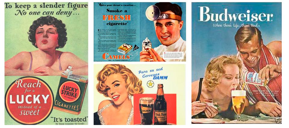 Imágenes publicitarias de los años 60 del siglo XX en EEUU