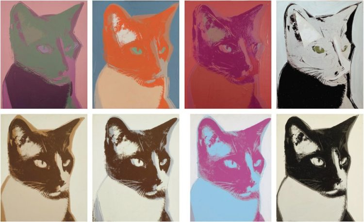 warhol gato retrato