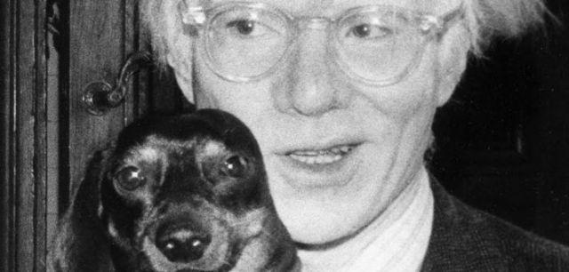 Warhol y teckel archie retratos de perros