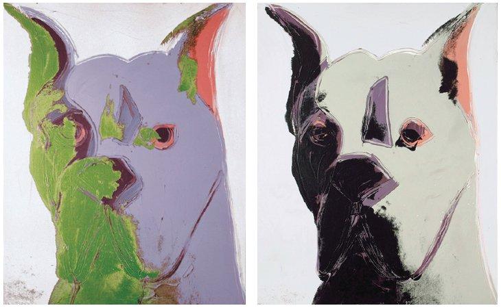 Warhol dog retratos de perros