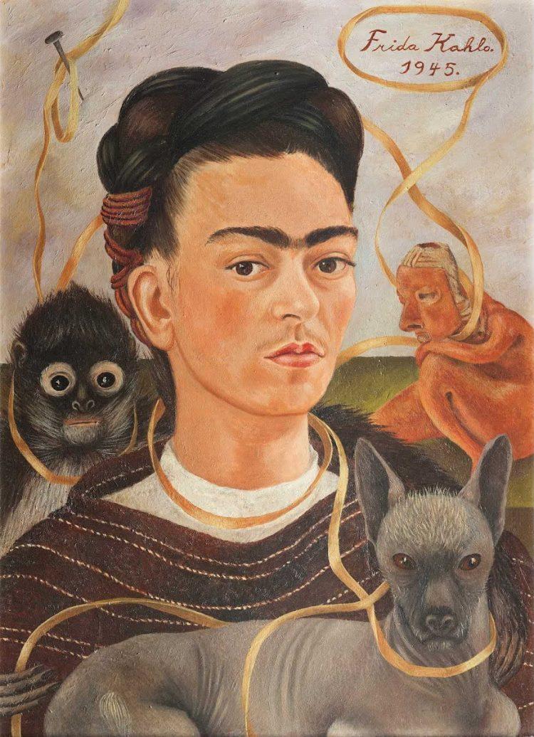 Autorretrato perro Frida Kahlo