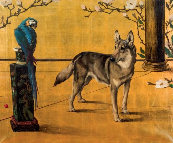 Maud Earl pájaro y perro