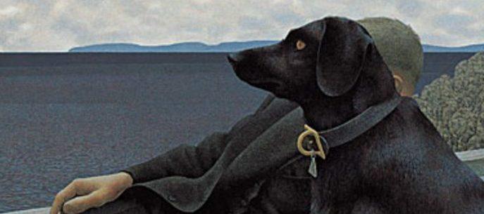 alex colville perro y sacerdote negro