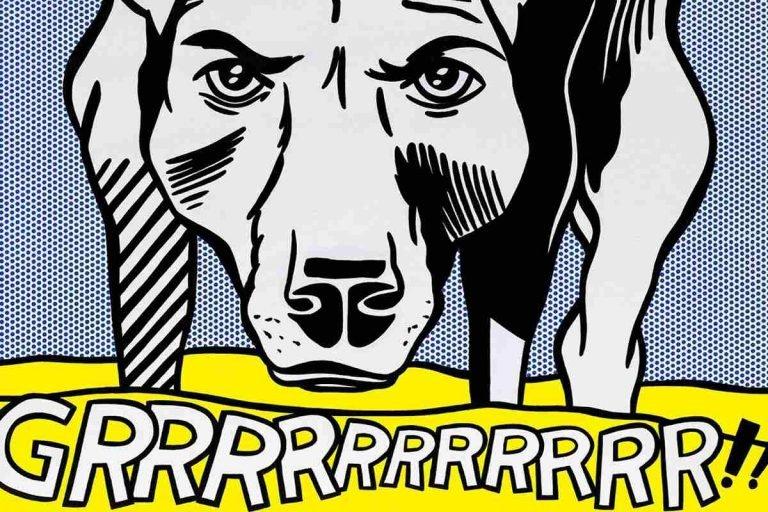 roy lichtenstein dog